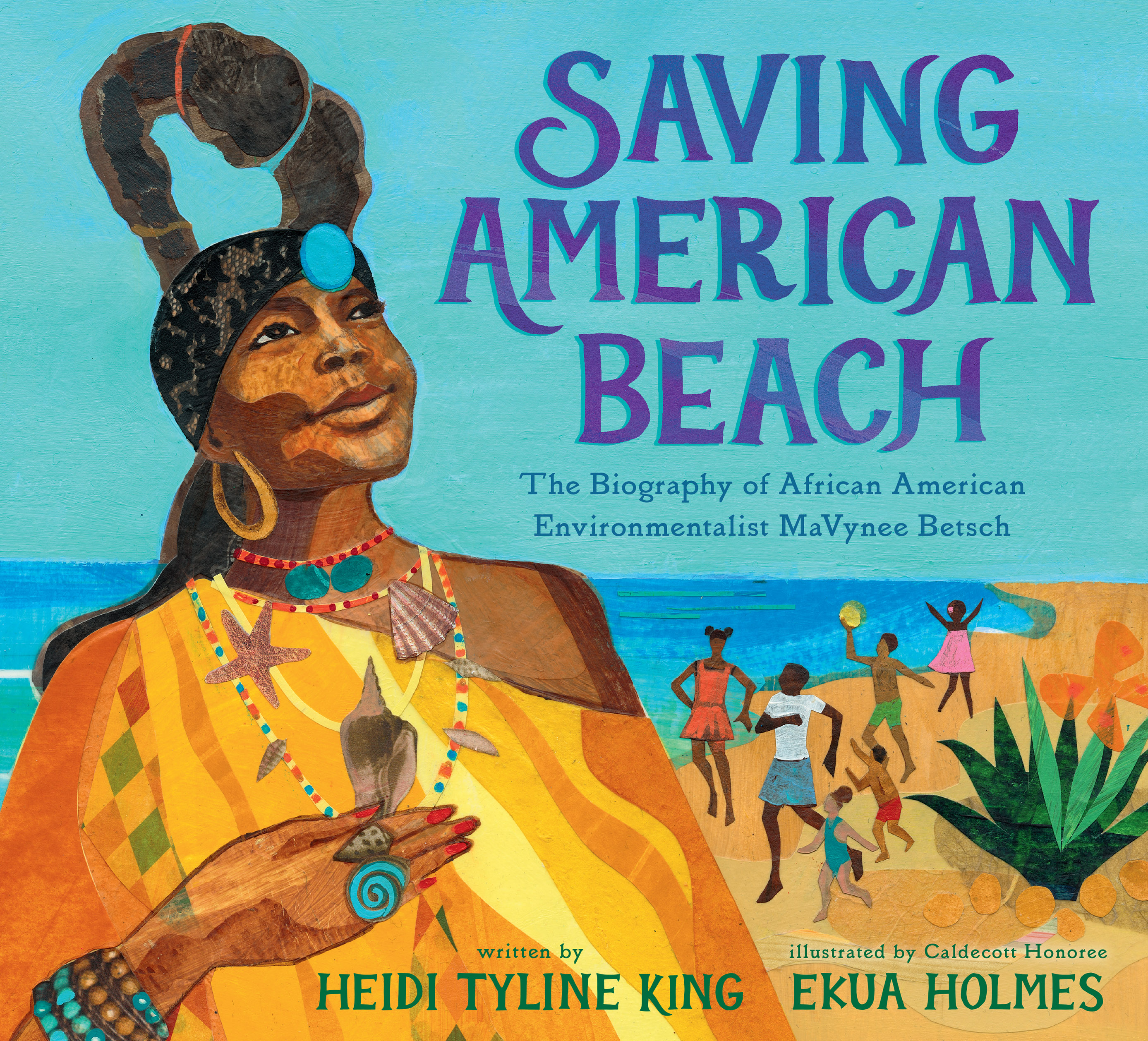 """Holmes did the illustrations for """"Saving American Beach: The Biography of African American Environmentalist MaVynee Betsch."""""""