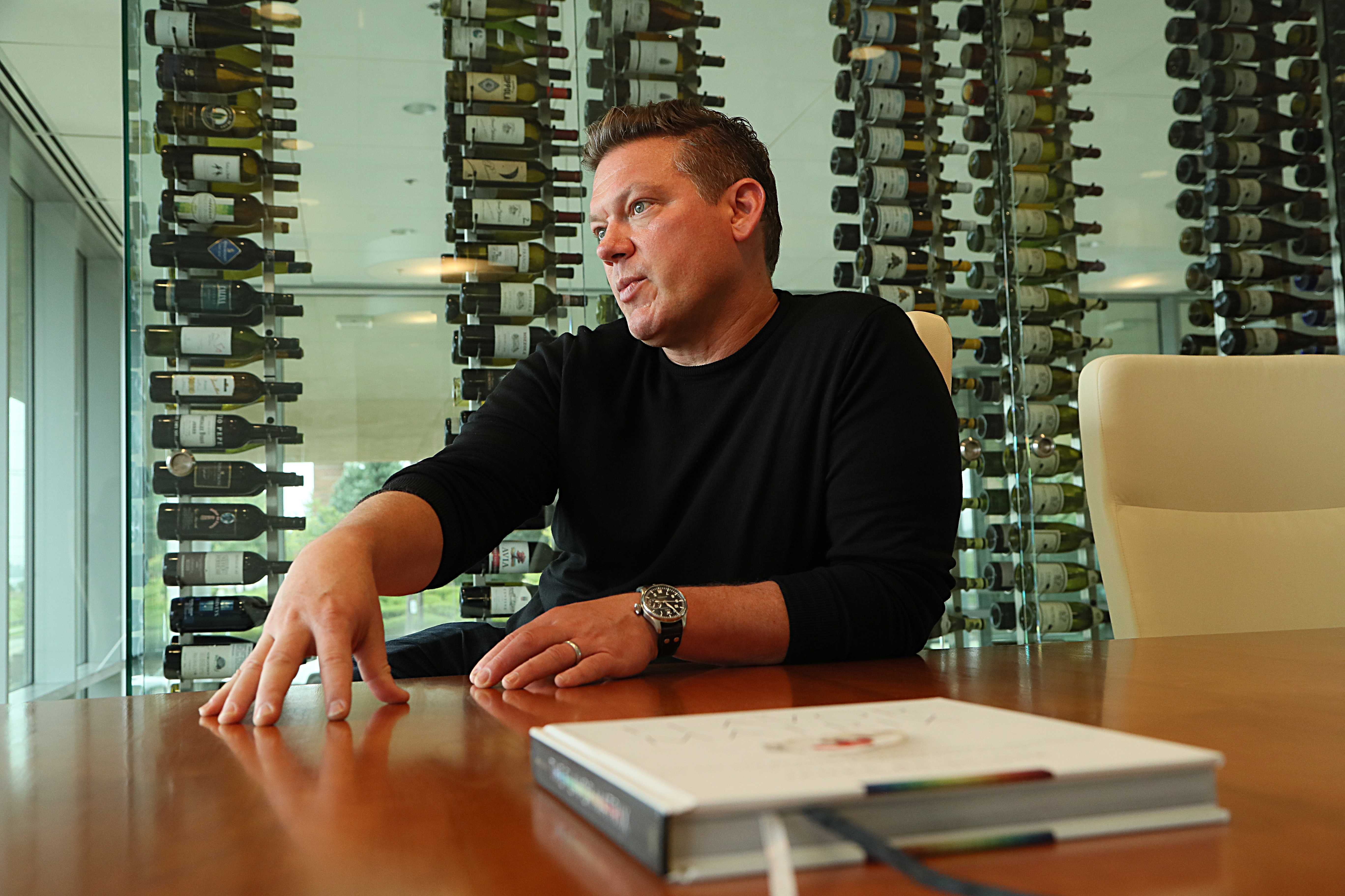 Tyler Florence, chef and television host of several Food Network shows, is Johnson & Wales University's first Food Entrepreneur in Residence.