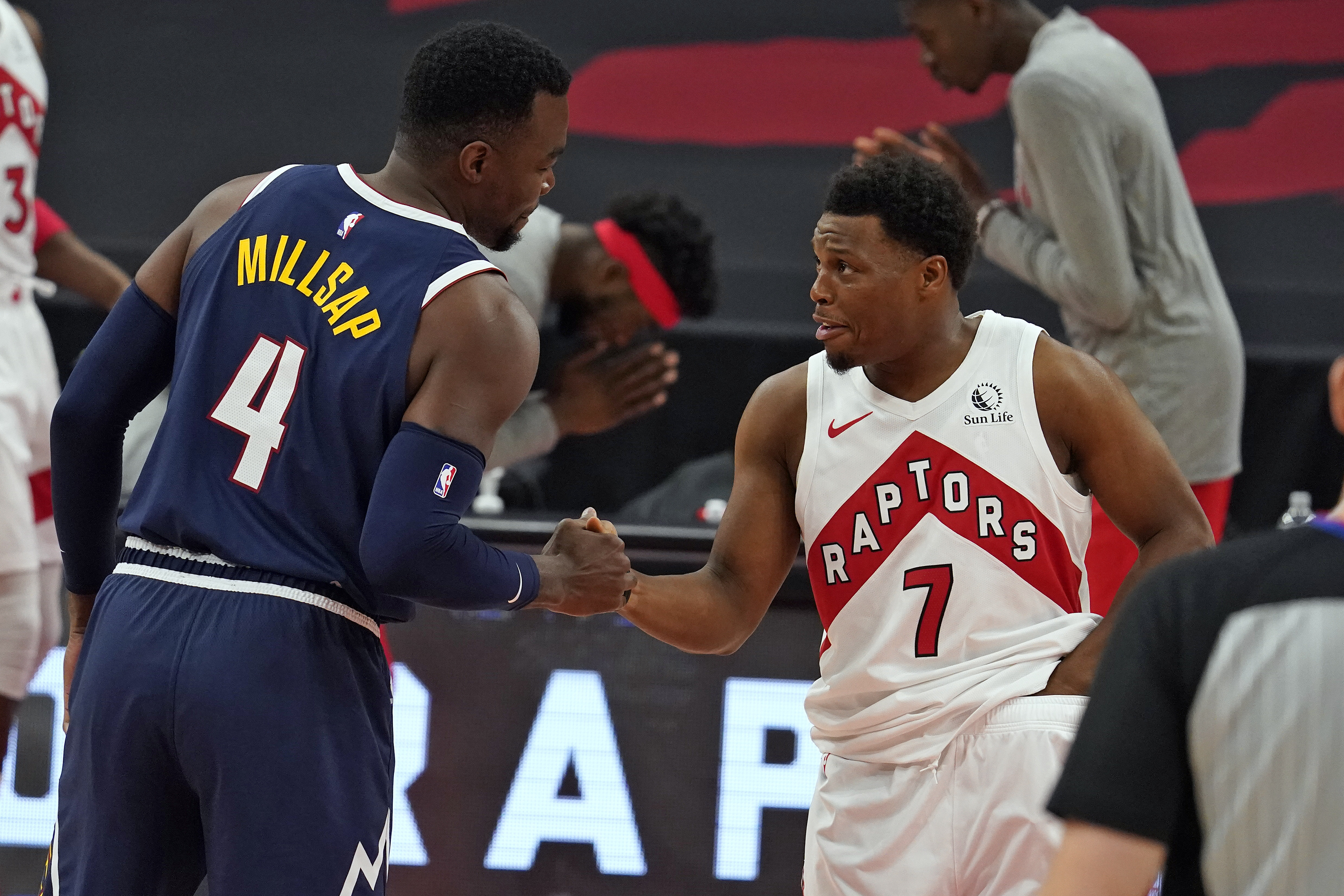 Kyle Lowry, right, and the Raptors are 18-24 entering Saturday's games.