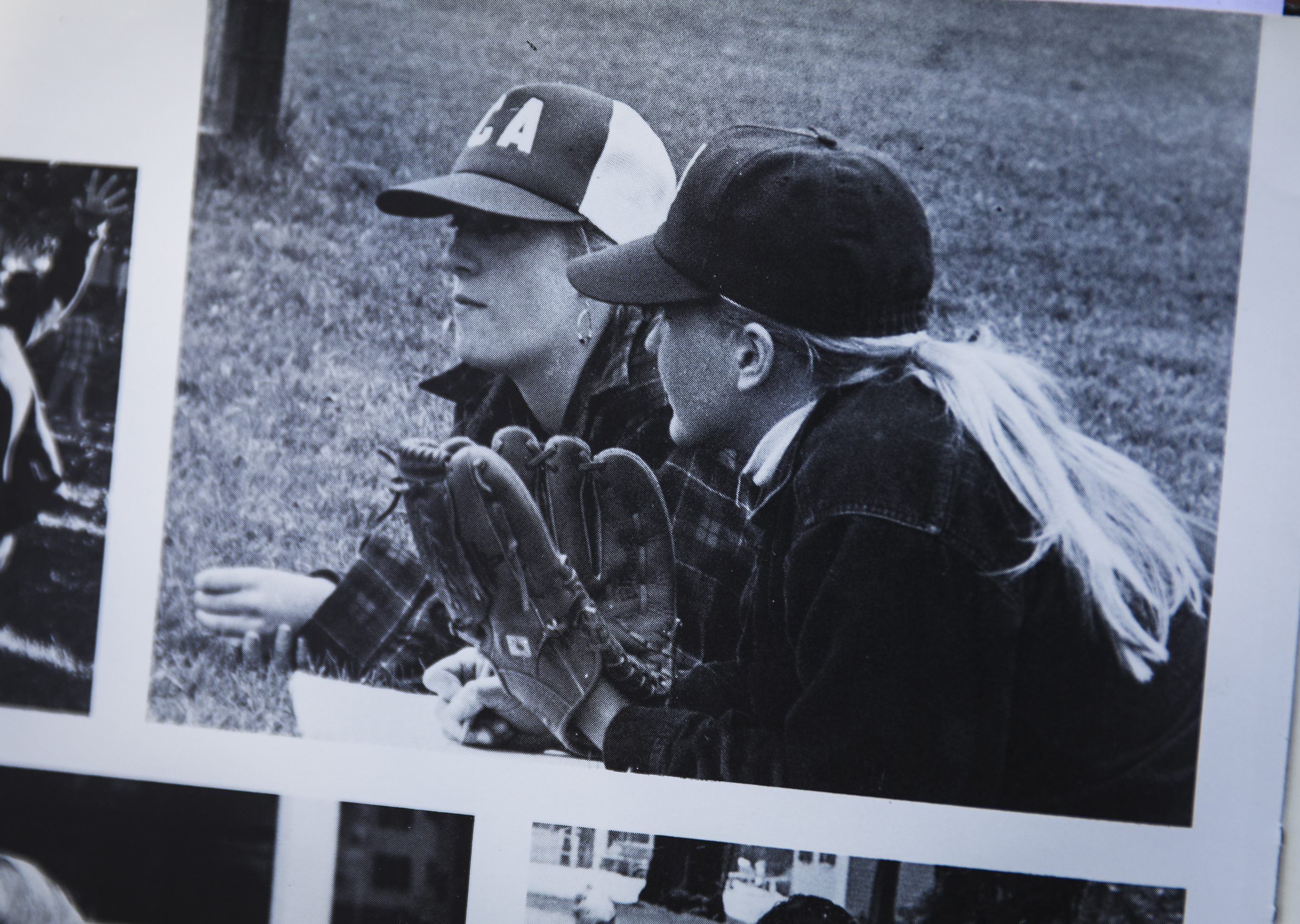 Estey Ticknor (right) and Lyza Morss (left) are shown in Ticknor's high school yearbook. Ticknor confided in Morss about her relationship with Gray after college. Morss also played in the Assabet Valley program.