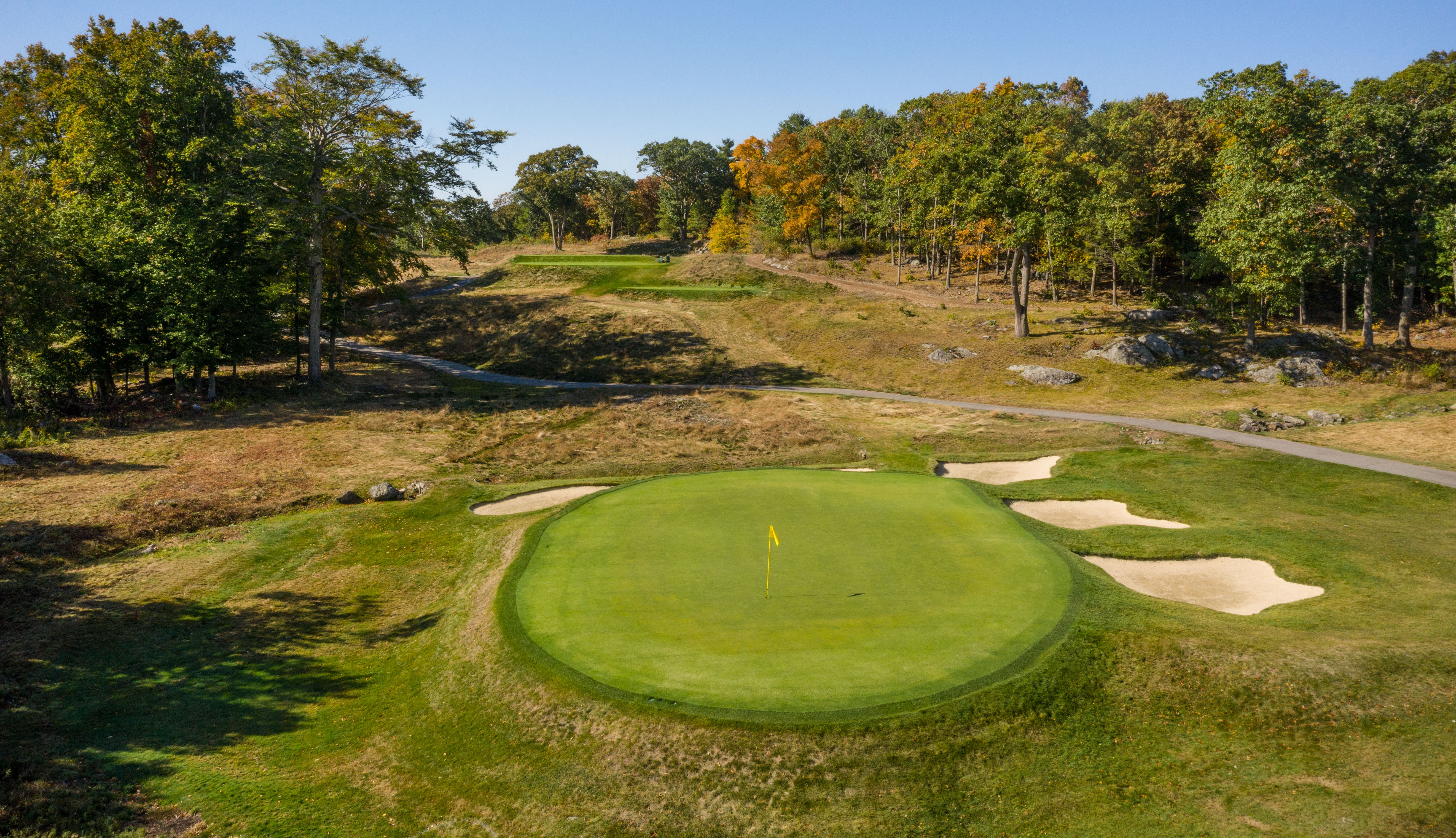 The 11th hole for the US Open 2022 is actually the 12th hole on the main course of the Country Club, which is a composite course of all the holes available for championship events.
