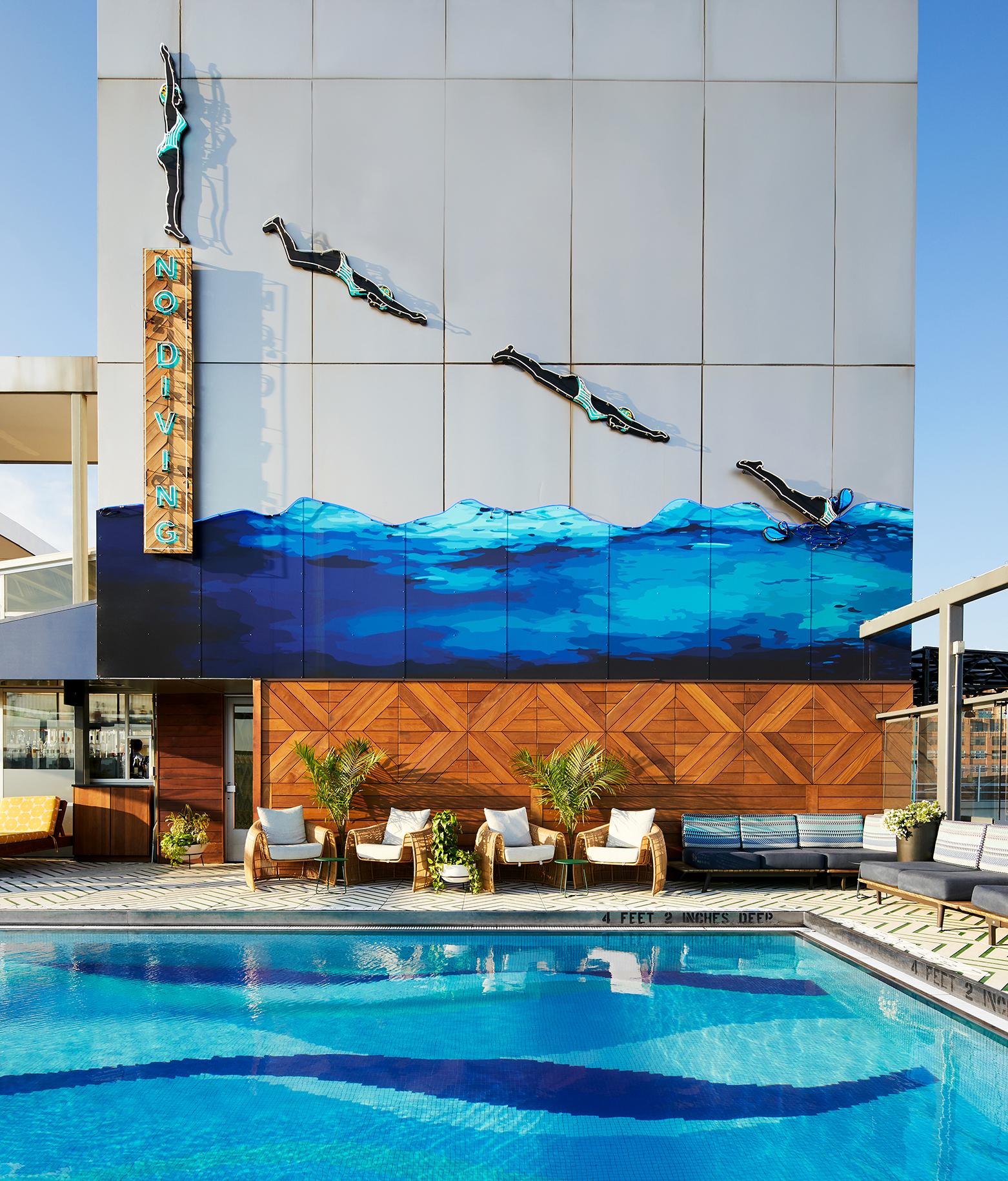 La piscine chauffée du Gansevoort Meatpacking Hotel.