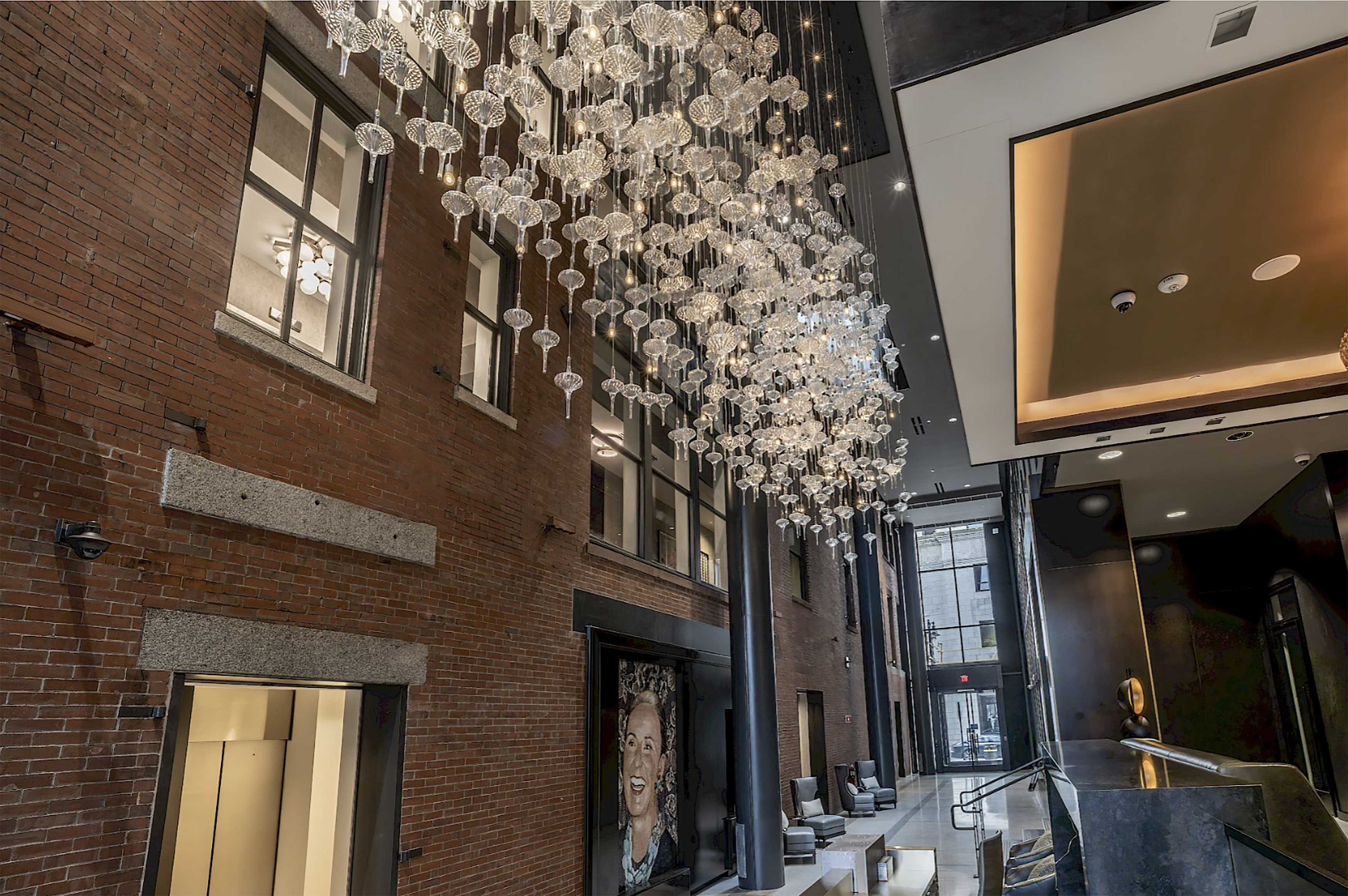 The lobby of The Beatrice, a new hotel that is slated to open late summer 2021 in downtown Providence.