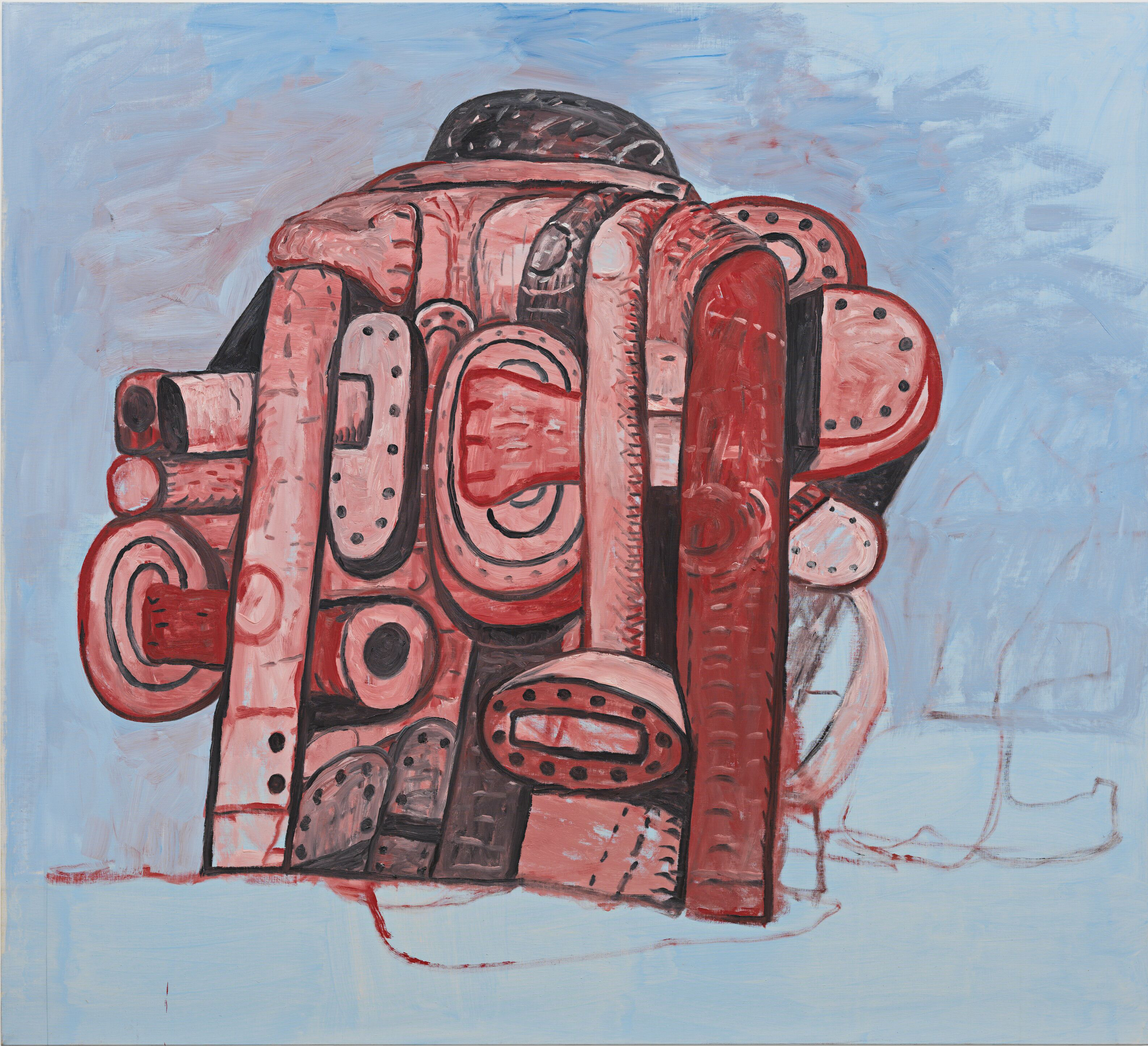 """that of Philippe Guston """"Rear view II"""""""