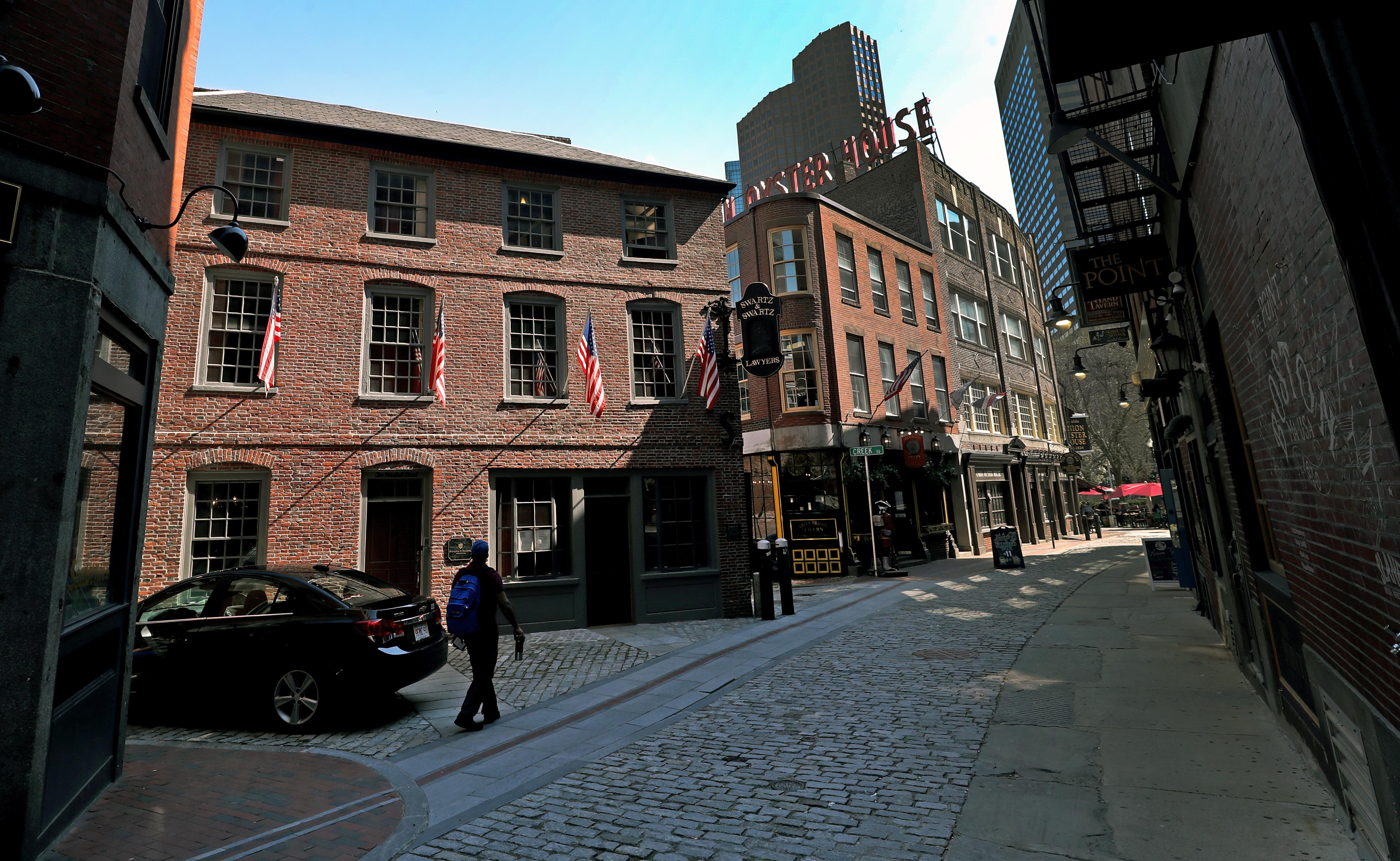The Ebenezer Hancock House, 10 Marshall St., Boston.