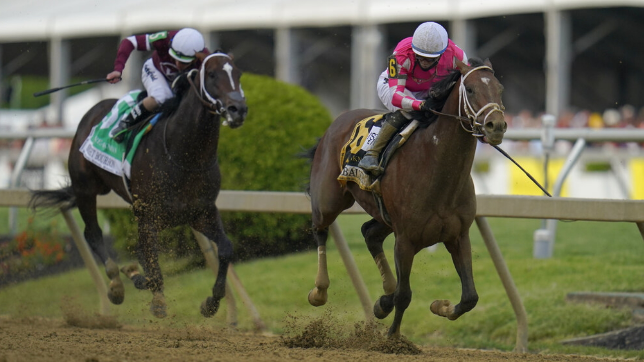 Longshot Rombauer wins 146th Preakness Stakes