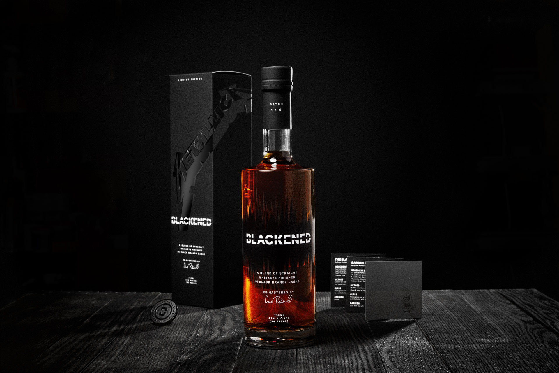 """New Limited Edition """"Black Album"""" Batch Of Black Whiskey From Metallica"""