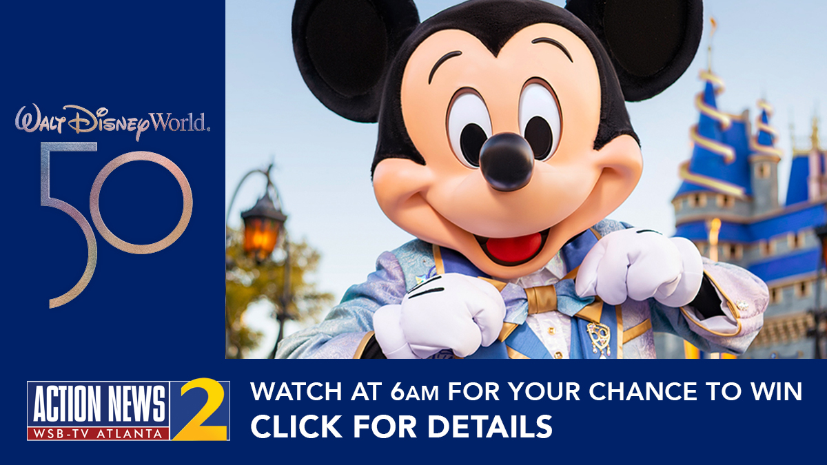 Click here for your chance to win a Walt Disney World giveaway. Watch Channel 2 Action News This morning at 6 a.m. for your chance to win.