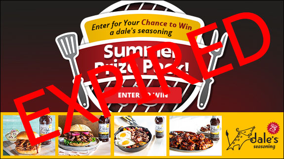 Enter for your chance to win a dale's seasoning summer prize pack