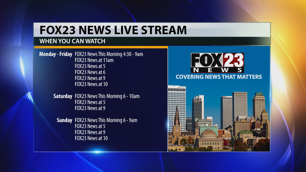 FOX23 News live stream schedule