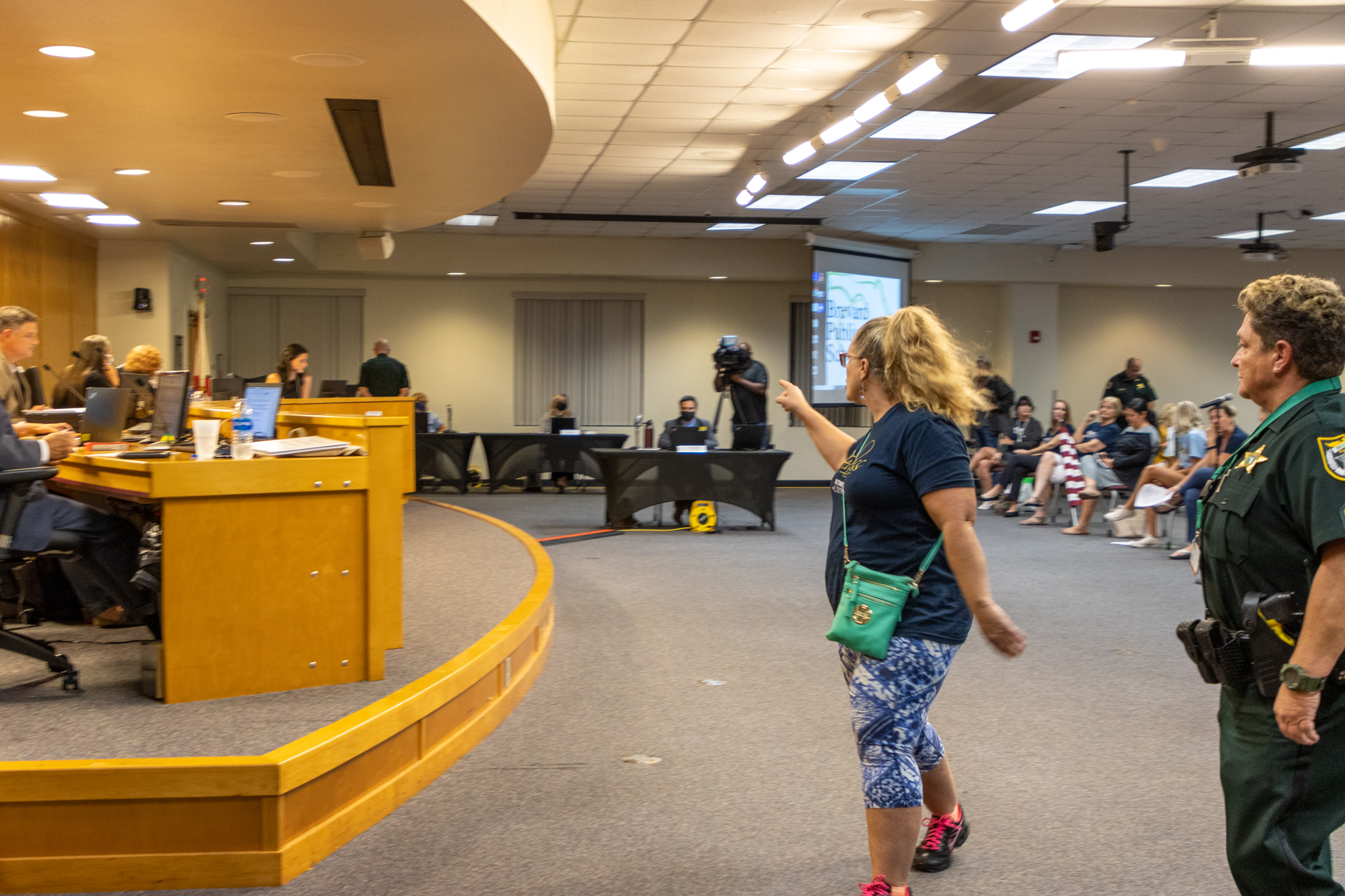 Parents take over Brevard County Schools meeting, board members escorted out