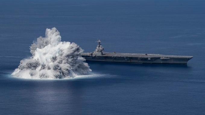 Aircraft carrier shock test off Florida coast registers as 3.9 magnitude earthquake