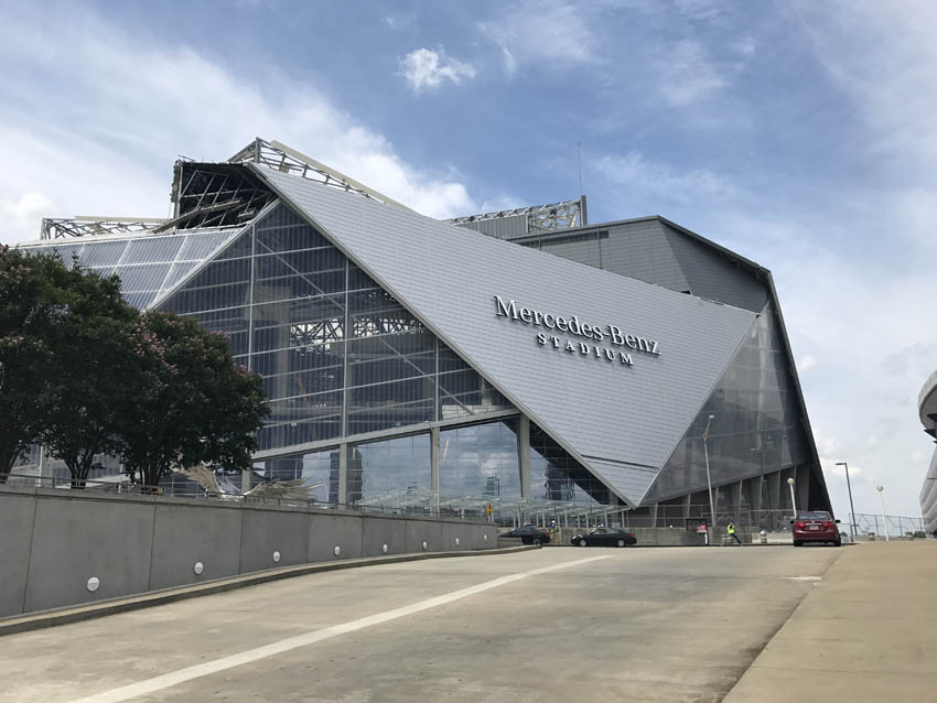 Behind the Scenes Tour: Mercedes Benz Stadium - 95.5 WSB