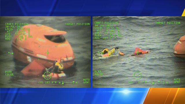 Man in emergency life raft rescued off Grays Harbor