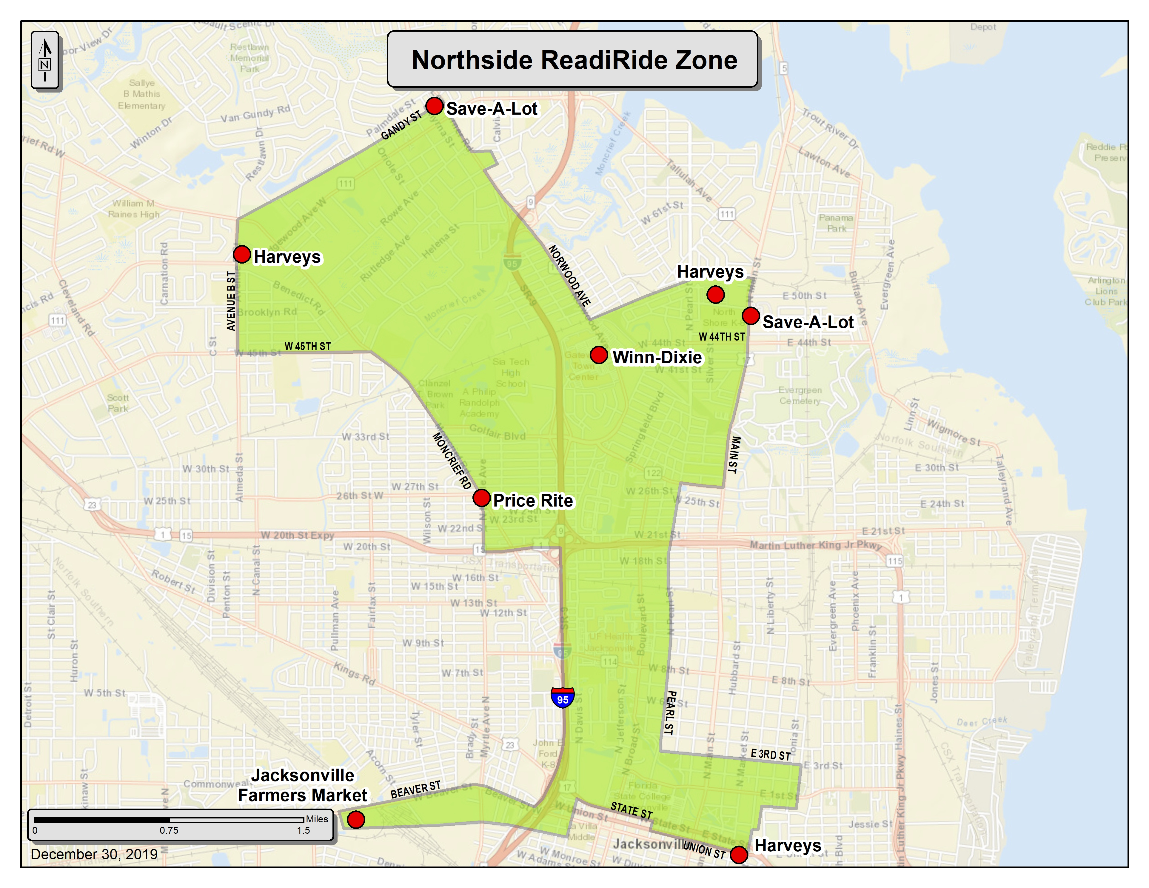 Northside ReadiRide Zone