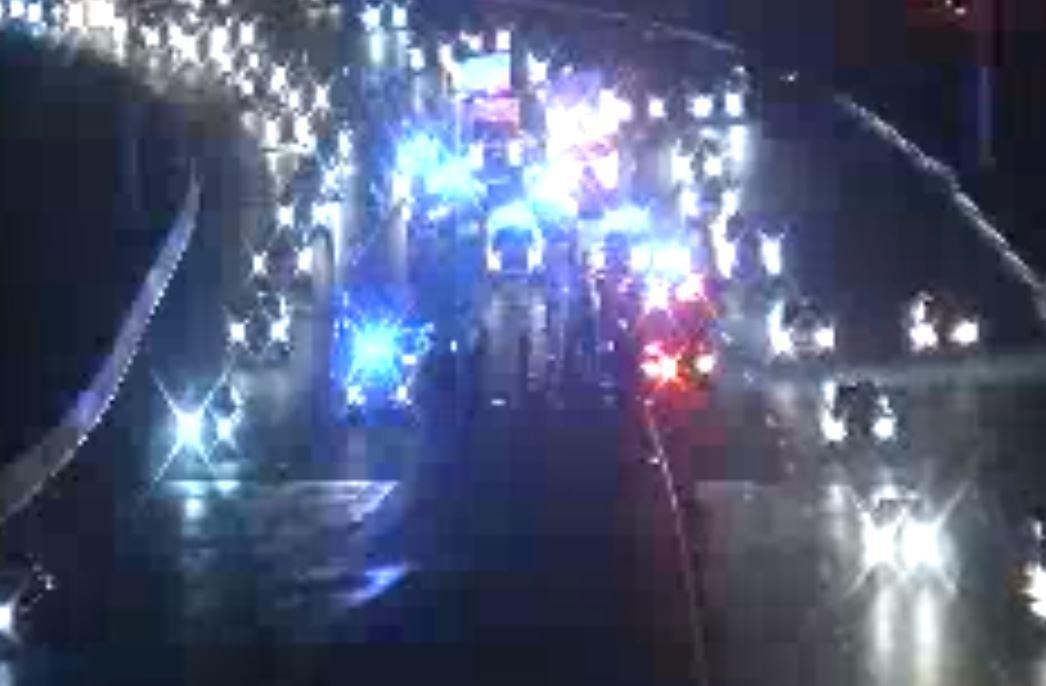 Pedestrian hit by car on I-240