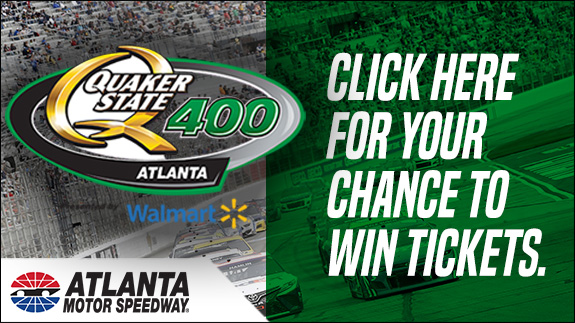 Click here for your chance to win tickets to the Quaker State 400 at Atlanta Motor Speedway