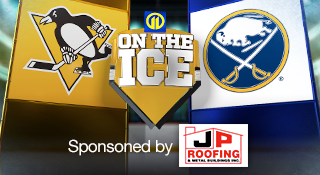 Penguins Sabres 11 on the Ice Coverage sponsored by JP Roofing