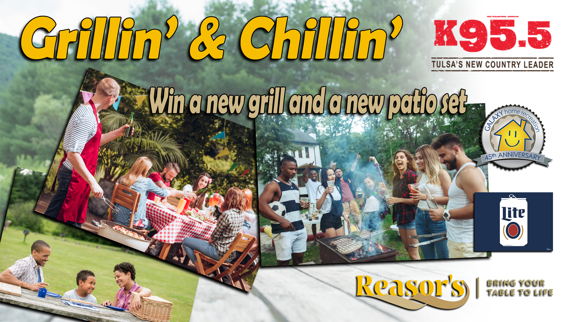 Grillin' and Chillin' with Miller Lite and K95.5!