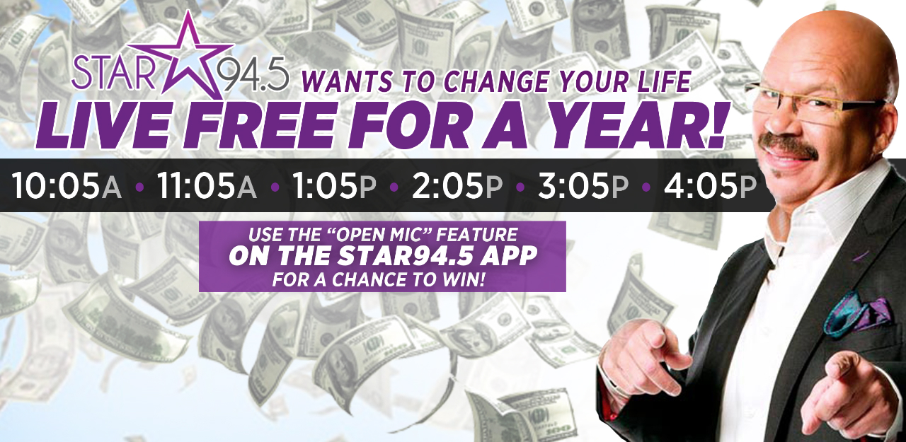 94.5 live free for a year phone number