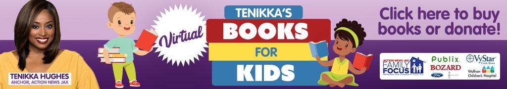 Tenikka's Books for Kids benefitting the Jacksonville Public Library