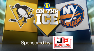 Penguins Islanders 11 on the Ice Coverage sponsored by JP Roofing