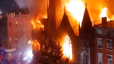 Early morning fire destroys church housing New Yorks...