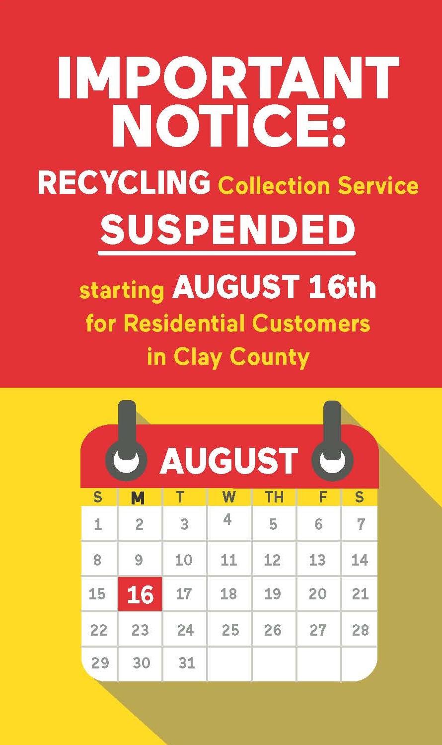 'Unprecedented labor shortages' force Clay County recycling suspension