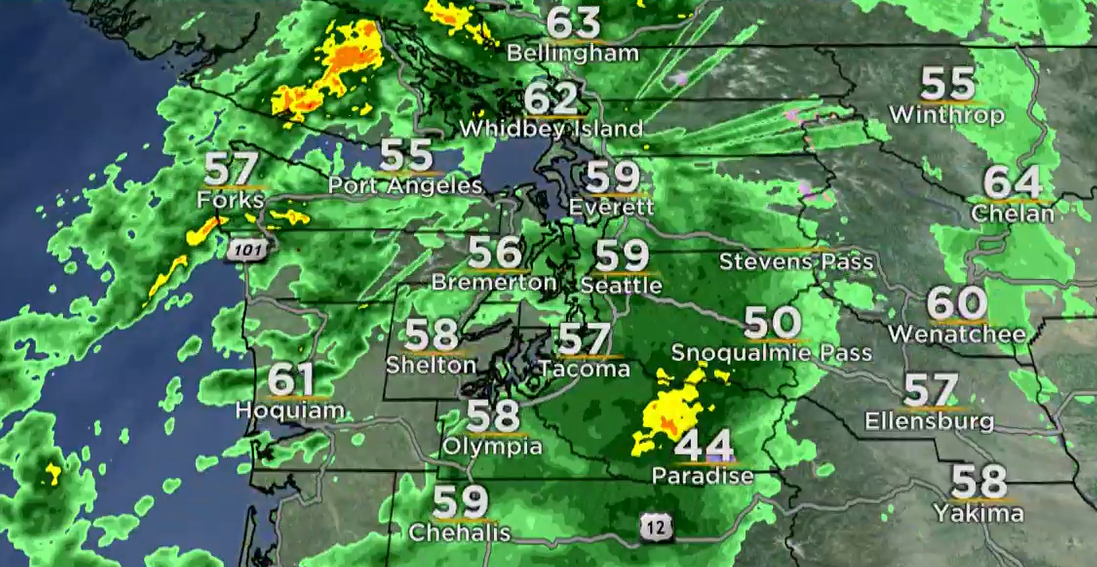 'Fire hose of moisture,' with wind Wednesday; thunder possible