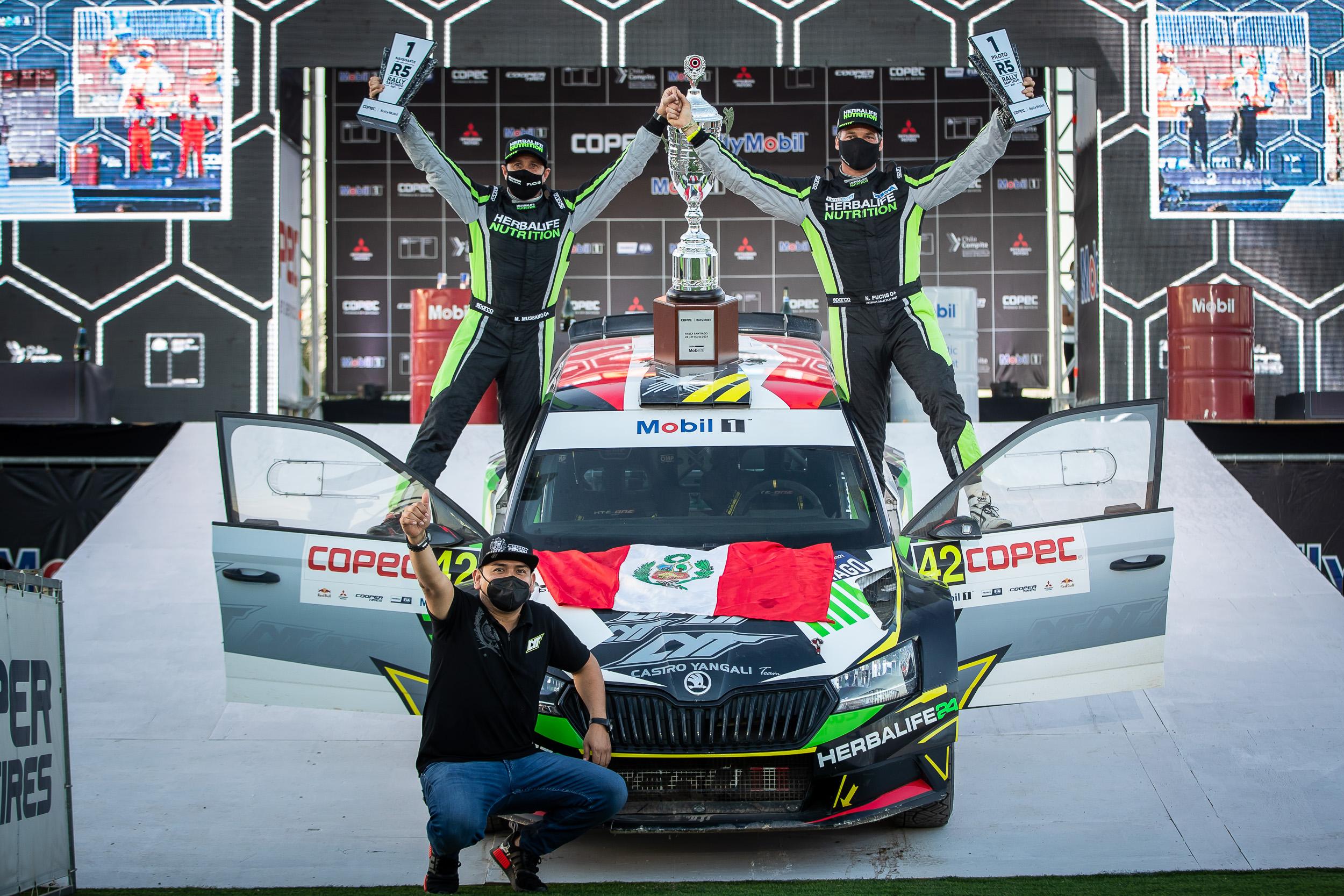 El peruano Nicolás Fuchs ganó en el regreso del Campeonato RallyMobil - La  Tercera