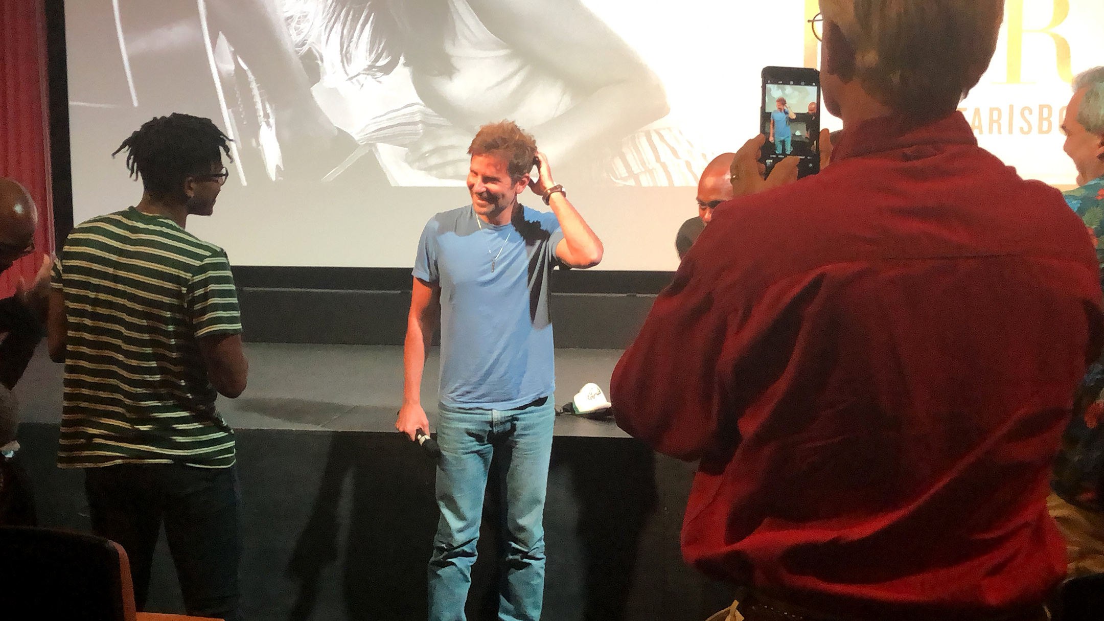 bradley cooper and dave chappelle screen a star is born in bradley cooper and dave chappelle