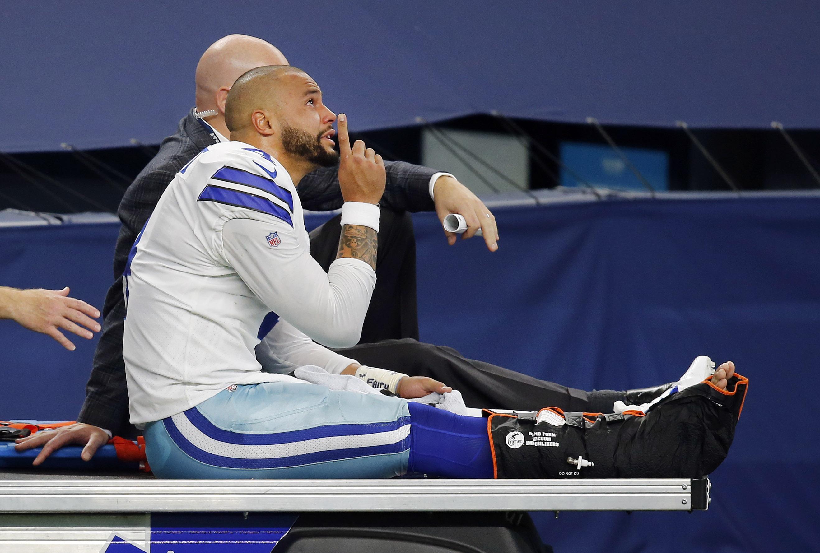 Big win, bigger loss: Cowboys, Dak Prescott let emotions flow after QB's devastating ankle injury
