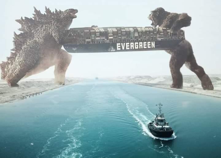 Salieron divertidos memes por bloqueo del canal de Suez