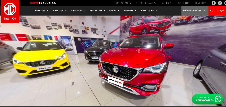 ¿Cómo es el showroom virtual 360 que ofrece MG a sus futuros compradores?