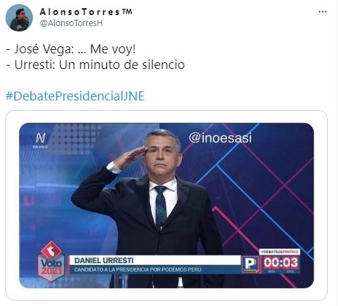 José Vega abandonó el debate presidencial y llovieron los memes en redes sociales que no perdonan nada