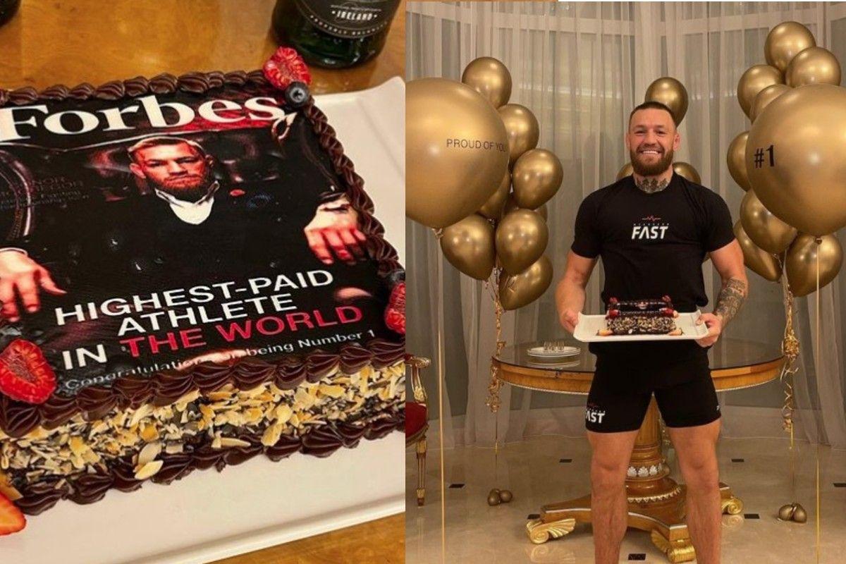 Conor McGregor celebró con una fiesta ser el deportista mejor pagado del mundo