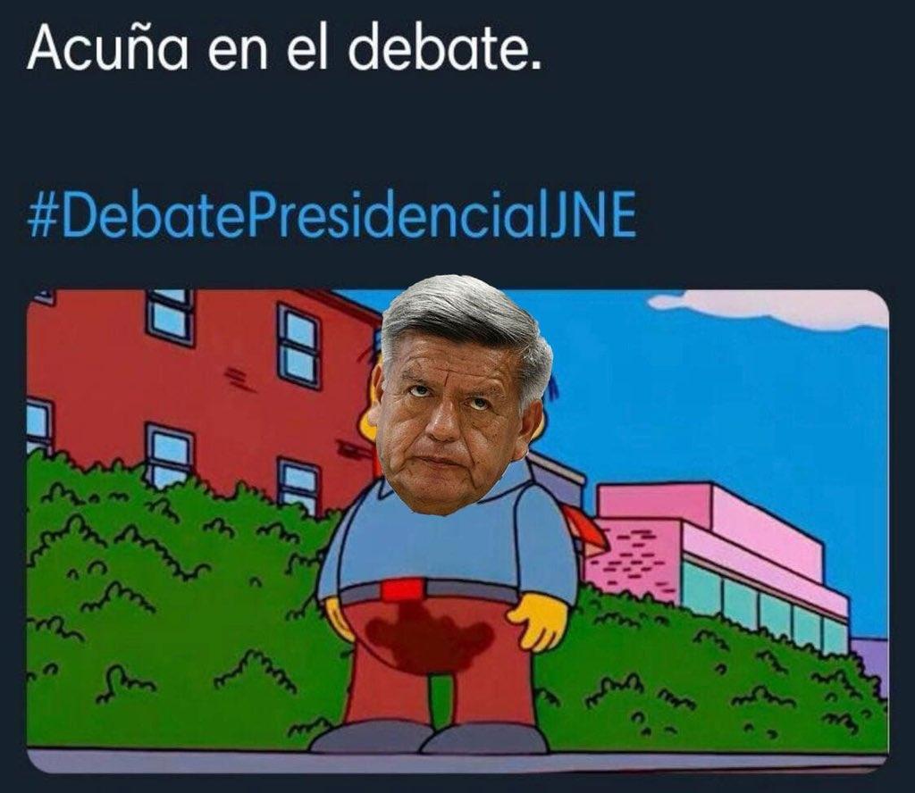Explotan los memes de César Acuña por su participación en el debate presidencial
