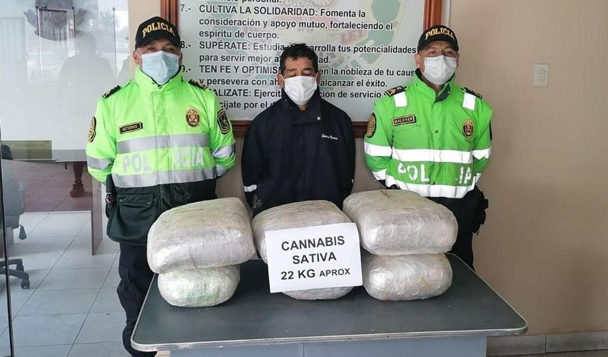 sujeto-es-intervenido-cuando-transportaba-22-kilos-de-marihuana-en-la-libertad