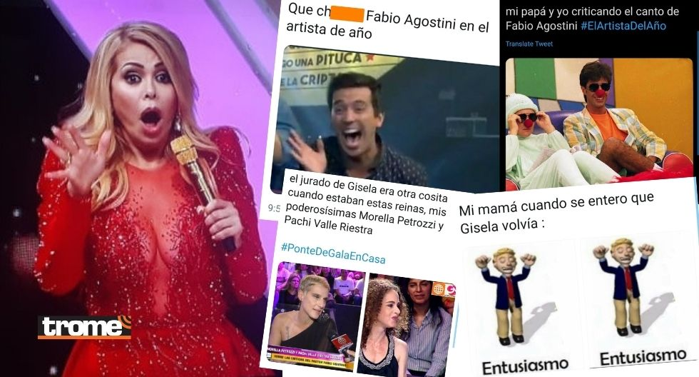 Gisela Valcárcel: memes por su retorno con El Artista del Año y la actuación de Fabio Agostini
