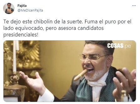 Andrés Hurtado fuma al revés un puro en una entrevista y los memes no paran de salir