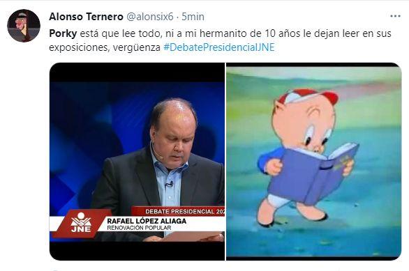 López Aliaga leyó sus respuestas y Guzmán se prendió: Los memes más hilarantes del tercer debate