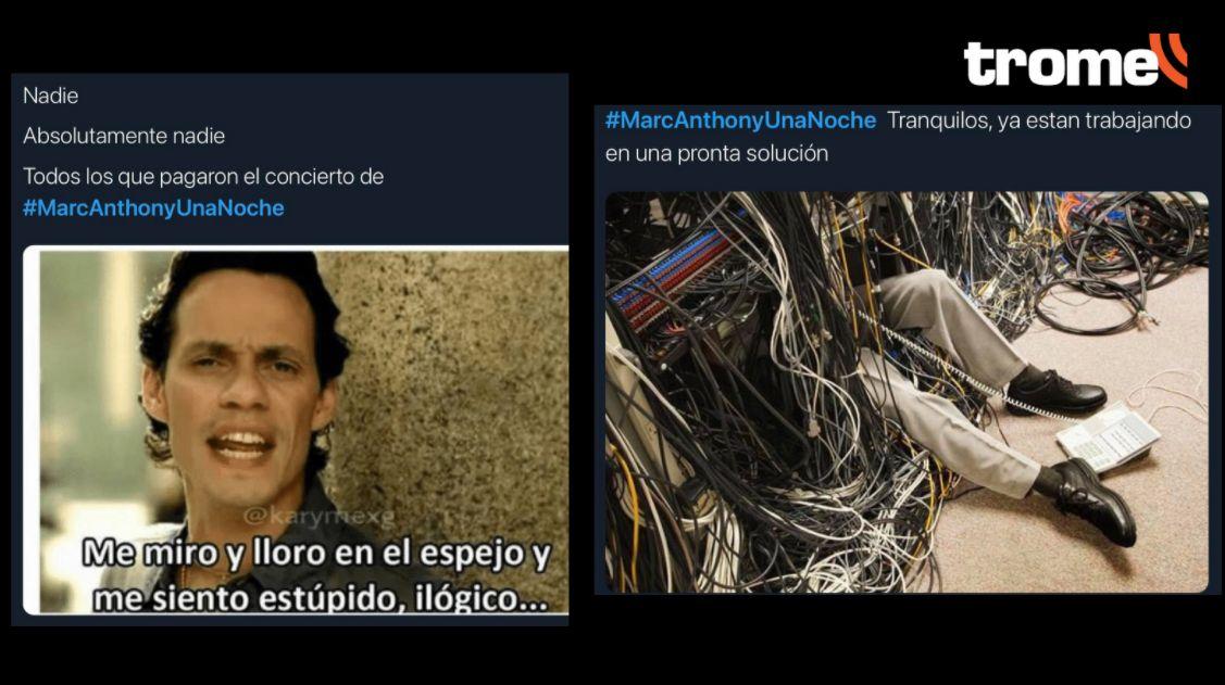 Marc Anthony canceló concierto por falla técnica y los divertidos memes no tardaron en salir