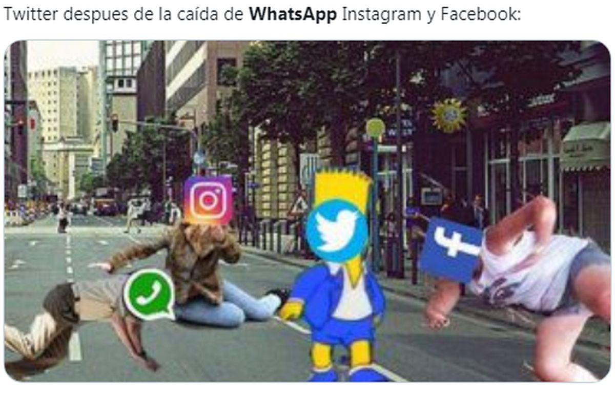 WhatsApp, Messenger e Instagram se caen y en Twitter explotan los memes