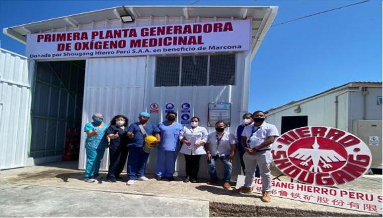 Shougang Hierro Perú donó primera planta de oxígeno en beneficio de la población Marcona