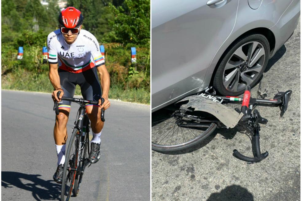 El pedalista no sufrió lesiones graves y ya se encuentra en su casa. El hecho sucedió en inmediaciones del municipio de Santuario.