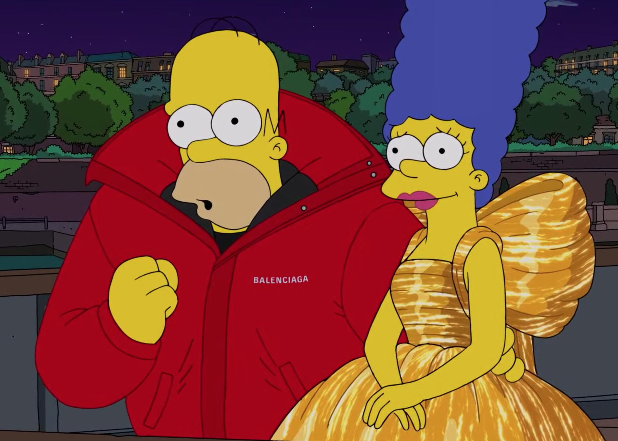 """""""Los Simpson"""" modelan para Balenciaga en nuevo cortometraje"""
