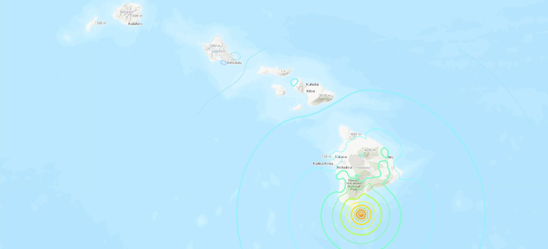 Dos fuertes terremotos sacuden a Hawai