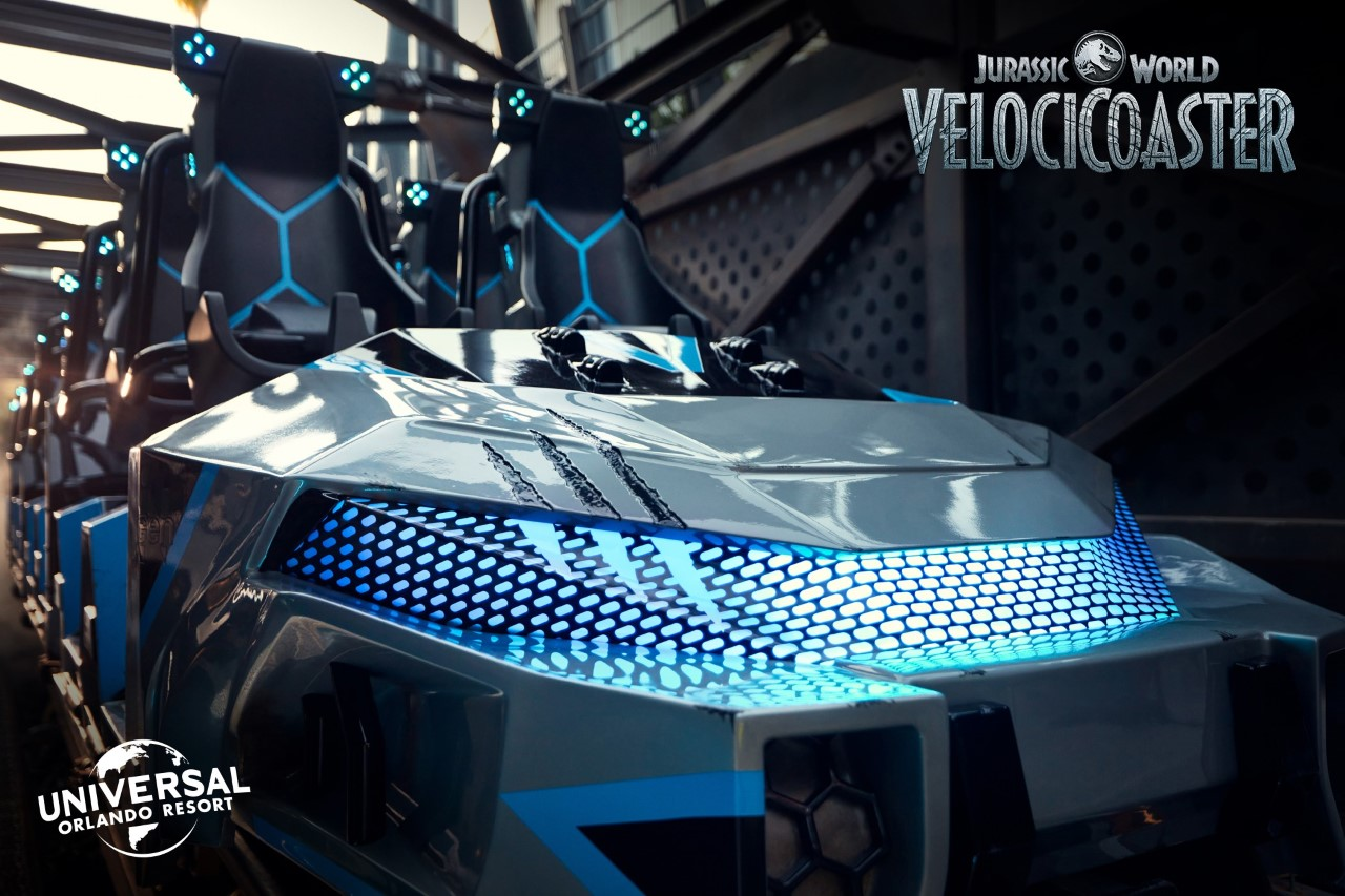 First Look Universal Shows Ride Vehicle For All New Jurassic World Velocicoaster