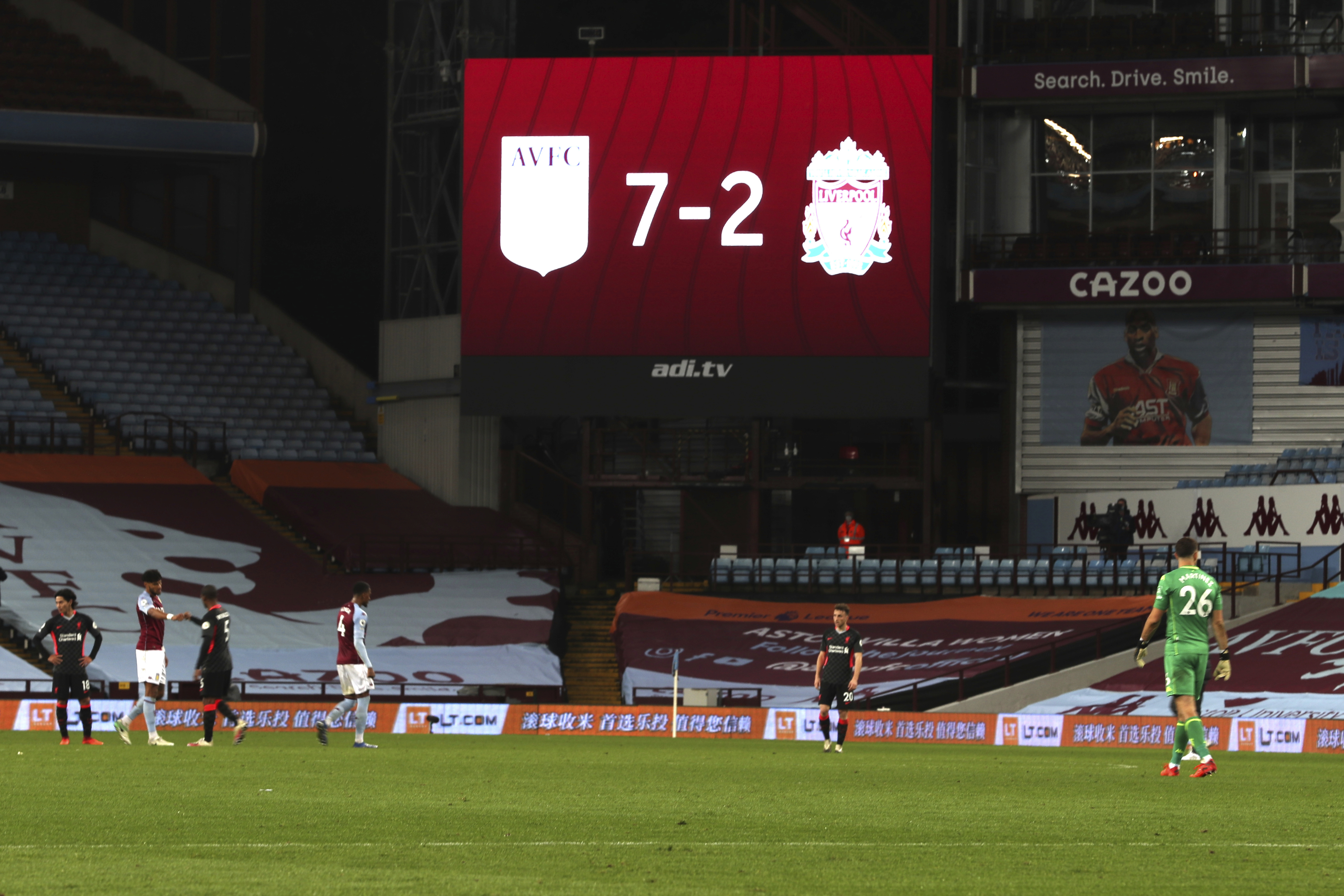Liverpool Embarrassed In 7 2 Loss To Aston Villa In Epl