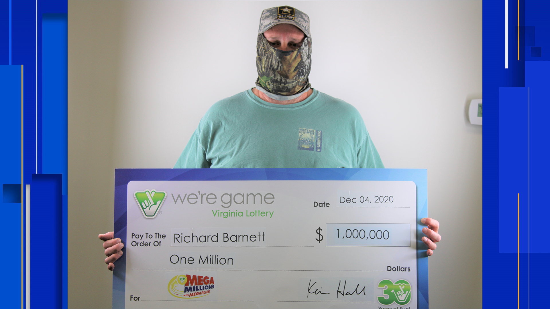 Christiansburg Man Claims 1 Million Lottery Prize With One Number Away From Jackpot